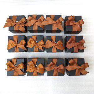 COACH Square Gift Box w Ribbon, set of 12